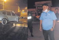 Alcalde de Cayaltí se despista, pero salva de morir en accidente en Lambayeque