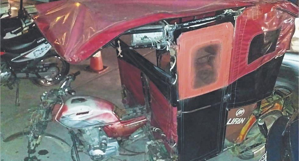 Mototaxista queda gravemente herido al ser arrollado por combi