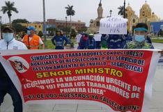 La Libertad: Personal del Segat exige frente a la MPT ser vacunado contra el virus