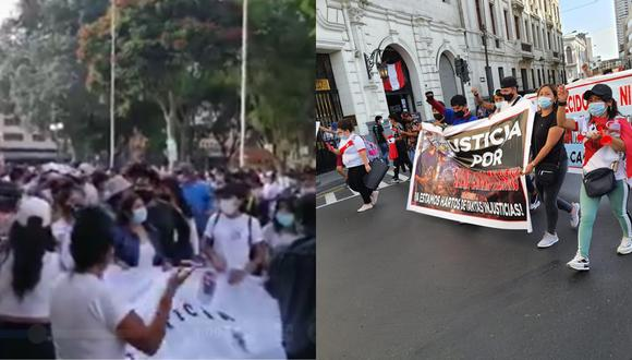 Marchas se realizan en simultáneo en Lima y Huánuco por el joven Silvano Oblitas.