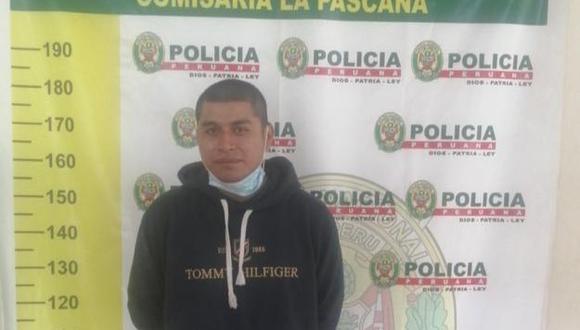El detenido Jesús Chacón es investigado en la Depincri Comas. (Foto: PNP)