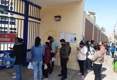Desorden en vacunación a menores de 17 años en Tacna
