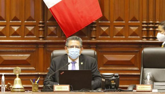Manuel Merino, presidente del Congreso, respondió a las afirmaciones del mandatario Martín Vizcarra (Foto: Congreso)