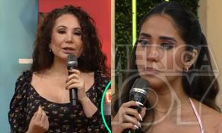 """Melissa Paredes le grita a Janet tras cuestionar su relación con Rodrigo Cuba: """"no hay amor, Janet"""""""