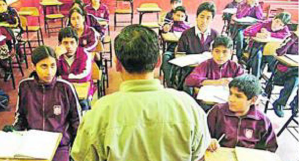 Alumnos dan prueba para Colegio Mayor de Huancavelica