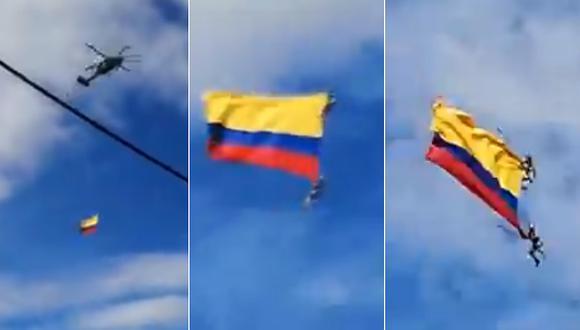 Colombia: Dos militares mueren al caer de un helicóptero (VIDEO)
