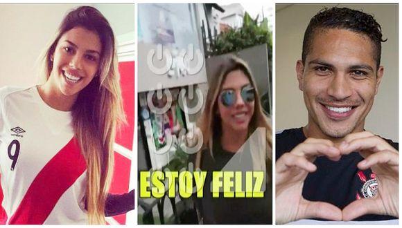 """Alondra García Miró al ser consultada sobre su relación con Paolo Guerrero: """"Estoy feliz"""" (VIDEO)"""