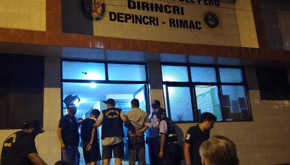Los detenidos fueron trasladados a la Depincri del Rímac para las diligencias policiales correspondientes. (Foto: Municipalidad de Lima)