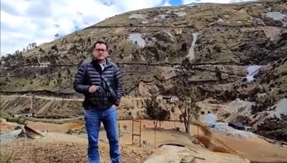 Greco Quiroz corroboró las labores de minería ilegal que se realizan en distintos puntos de la sierra liberteña y la contaminación que generan.