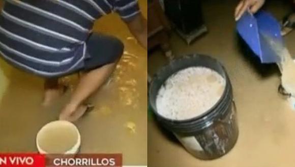 Chorrillos: Rotura de tubería genera inundación en viviendas (VIDEO)