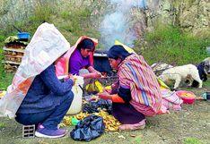 La vida en los cerros Huancayo donde se come dos o tres veces por semana