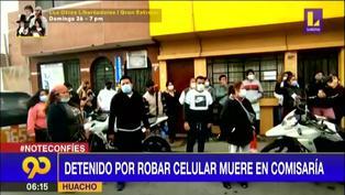 Detenido por robar celular muere en comisaría de Huacho