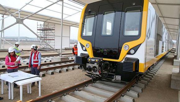 Continúan las obras por la Línea 2 del Metro de Lima. (Foto: GEC)
