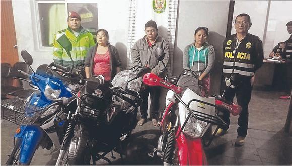 Cae presunta banda por robar motos en tienda comercial en Chulucanas