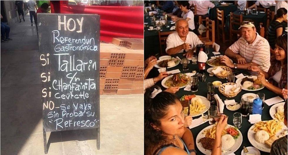 """Menú referéndum"": restaurante ofrece creativa carta a sus comensales (FOTO)"