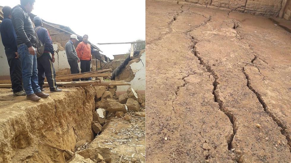 Falla geológica hunde toda una cuadra de un distrito de Huánuco (VIDEO y FOTOS)