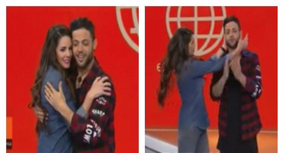 Rebeca Escribens intentó robarle un beso a Lucas Piro y él sorprende con esta reacción (VIDEO)