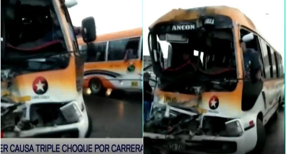 Puente Piedra: reportan accidente vehicular en la Panamericana Norte