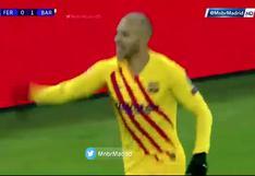 Braithwaite colocó el 2-0 de Barcelona sobre Ferencváros en Champions League (VIDEO)