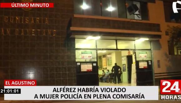 La violación a una mujer policía habría ocurrido en la comisaría de San Cayetano. (Foto: Captura 24 Horas)