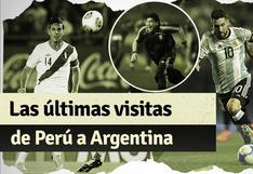 Los últimos partidos de la selección peruana en Argentina por Eliminatorias