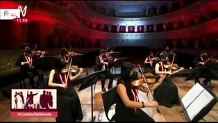 Disfruta las sagradas notas del Himno Nacional a mano de la Orquesta Sinfónica del Perú