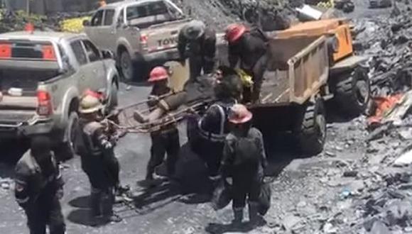 El primer minero murió por Traumatismo Cráneo Encefálico (TEC). (Foto: Difusión)