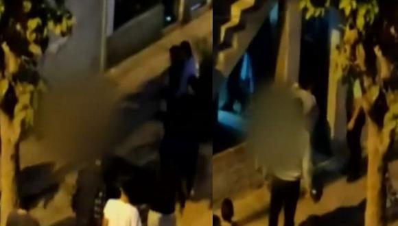 Vecinos indignados atrapan a delincuente, lo desnudan y castigan sin llamar a la Policía (VIDEO)