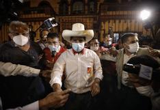 """Pedro Castillo: """"No solo hemos recibido respaldo de Evo Morales, sino también cartas de otros países"""""""