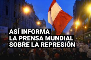 Así informa la prensa mundial sobre la violenta represión en las marchas contra presidencia de Manuel Merino