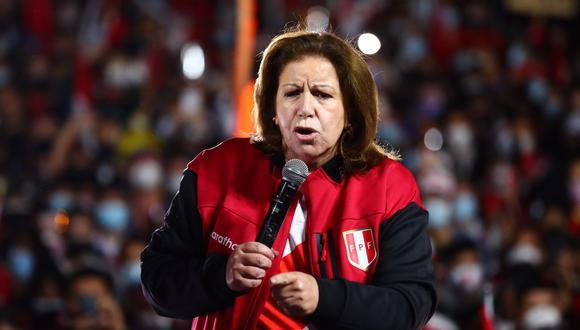 Lourdes Flores Nano tuvo polémica frase hacia el jefe de la ONPE, Piero Corvetto. (Foto: Hugo Curotto / @photo.gec)