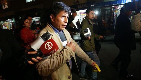 Dirigente Pedro Castillo ratificó que la huelga de docentes se mantiene. (Foto: Archivo El Comercio / Video: Canal N)