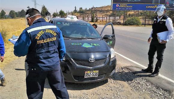 Junín: los pasajeros de las unidades intervenidas presentaron documentación de otras jurisdicciones de la región Junín.
