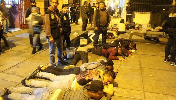 Los Olivos: Detienen a 14 miembros de banda delincuencial que asaltaba y comercializaba droga (FOTOS Y VIDEO)