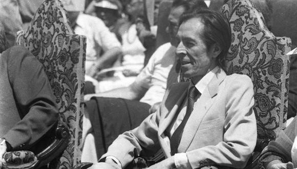 Ribeyro es un narrador perteneciente a la Generación del 50, es considerado uno de los mejores cuentistas hispanoamericanos. 06 de abril de 1986 (Foto GEC Archivo Histórico)