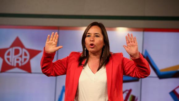 Nidia Vílchez es la candidata inscrita por el Partido Aprista para la presidencia de la República.