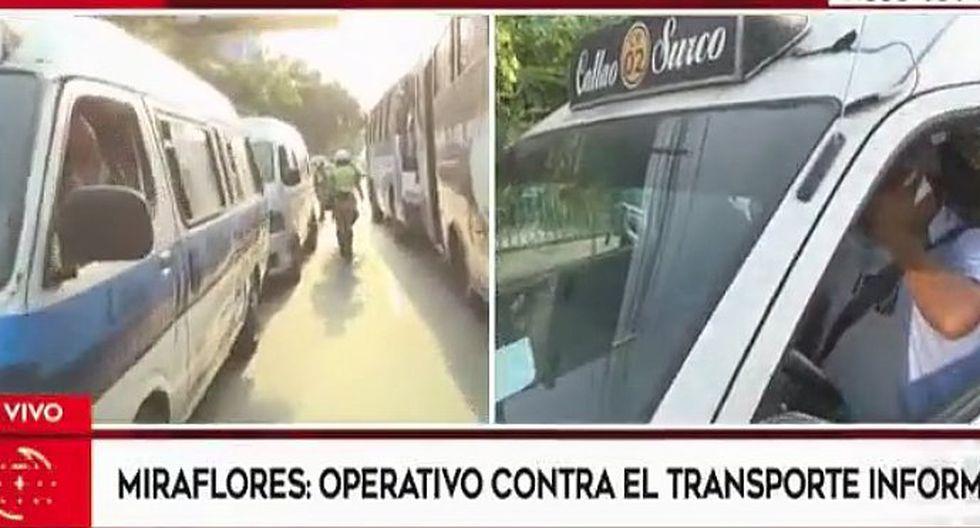 Miraflores: hallan en operativo policial a choferes que nunca han tramitado brevetes (VIDEO)