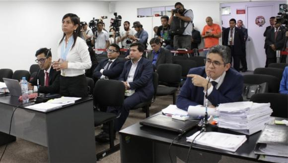 Giulliana Loza fue reprendida por el juez por un comentario que hizo sobre el fiscal Pérez. (Foto: Poder Judicial)