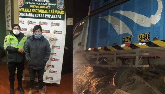 Orlando Rudy Huanco Mamani (23), fue detenido con un camión robado. (Foto: Feliciano Gutiérrez)