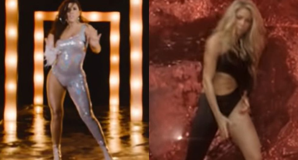 'Cobarde': Yahaira Plasencia utilizó un vestuario similar al de Shakira en 'Loba'