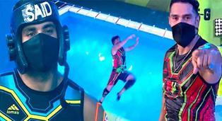 EEG: Rafael Cardozo se lanzó a la piscina para celebrar la derrota de Said Palao