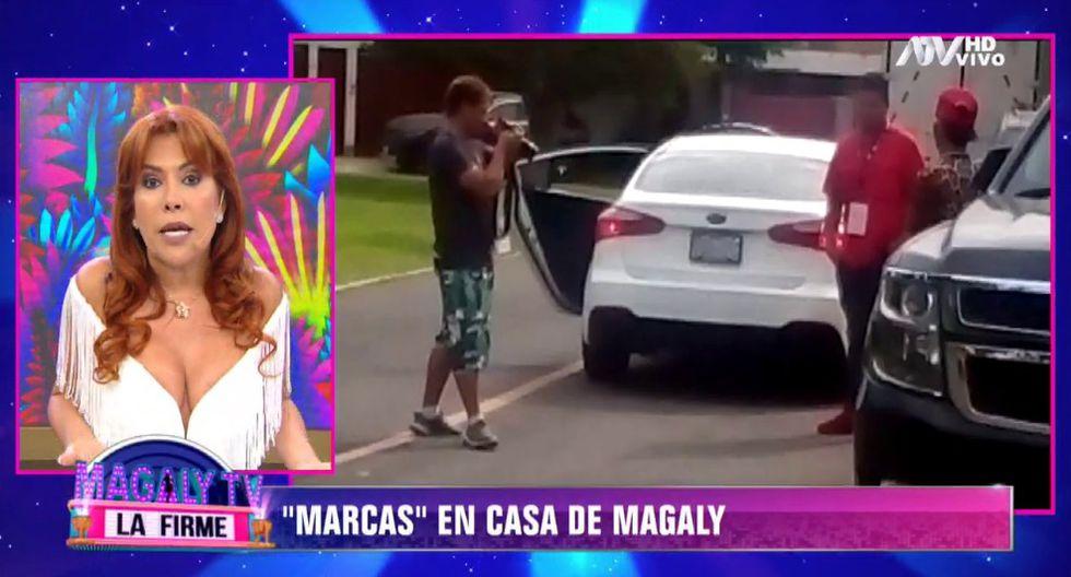 Magaly Medina expuso a delincuentes que rondaron su casa. (Foto: Captura ATV)