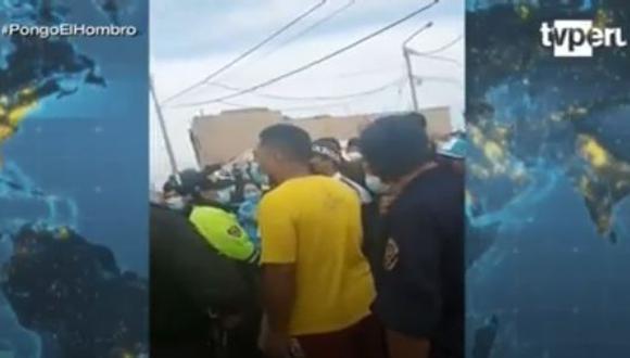 """En su defensa estos ciudadanos infractores llegaron a decir que no debían ser intervenidos porque llevaban """"una vida sana"""". (Captura TV Perú)"""