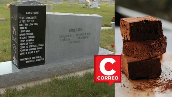 La lápida de Kathryn Andrews tiene grabada una receta de dulce de leche. | Crédito: FOX 13 News Utah / Pexels / Referencial