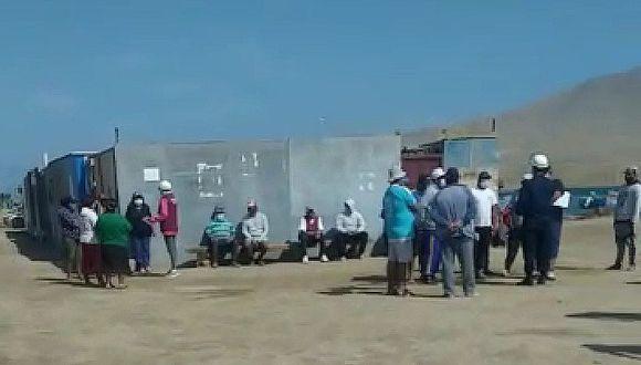 Pisco: Colocan tranqueras para evitar el ingreso de personas