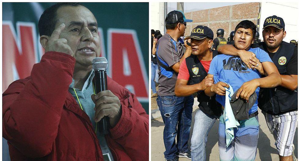 """Puente Piedra: """"es ilegal que se mantenga detenidos a  estos 55 ciudadanos"""", dice Gregorio Santos"""