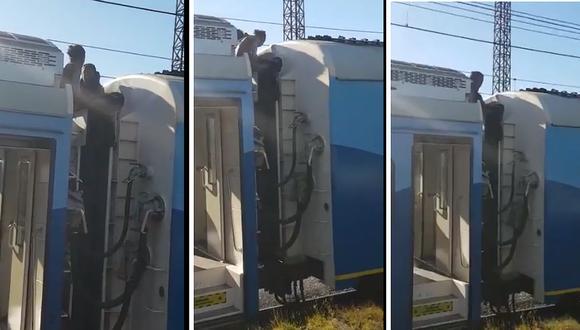 Jóvenes recibieron descarga de 25 mil voltios cuando viajaban en el techo de un ferrocarril (VIDEO)