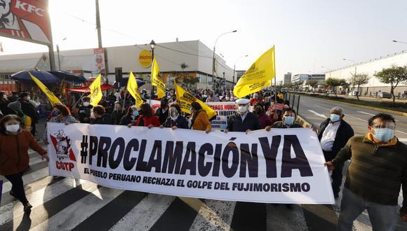 Conoce los desvíos del Metropolitano y Corredor Morado debido a las manifestaciones en el centro de Lima. (Foto: Eduardo Cavero/@photo.gec)