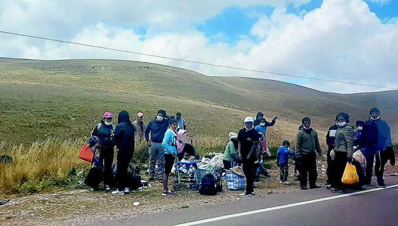 Personas inician su travesía de Huancayo  hasta sectores de Selva Central