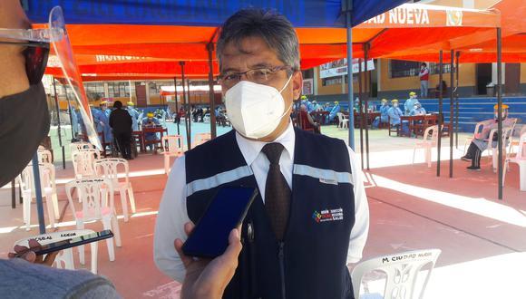 Oscar Galdos Rodríguez, director regional de salud de Tacna. (Foto: Adrian Apaza)